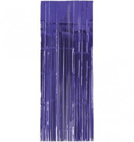 Metallic Door Curtain New Purple