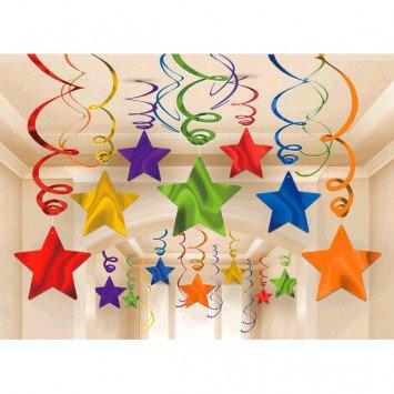 Foil Shooting Stars Mega Value Pack Swirls Rainbow