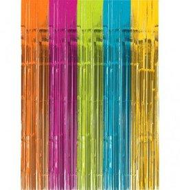 Metallic Door Curtain Bright Multi-Colour