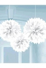Frosty White Fluffy Paper Decorations (3)