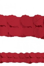 Apple Red Paper Garland 12ft