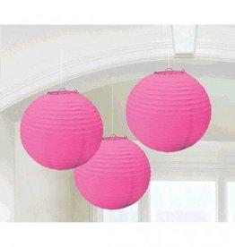 Bright Pink Round Paper Lanterns