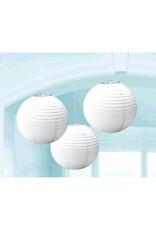 Frosty White Round Paper Lanterns