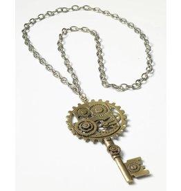 Steampunk Copper Key Brooch
