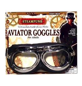 Steampunk Aviator Goggles Black