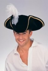 Buccaneer Hat Black with Feather