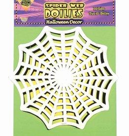 "Spider Web Doilies 10.5"""