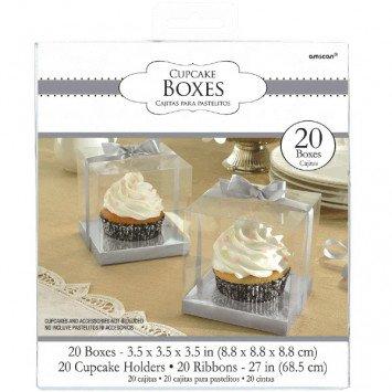 Cupcake Boxes Silver