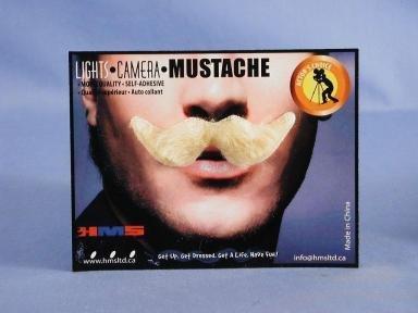 Debonair Moustache Blonde