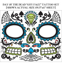 Day Of The Dead Face Tattoo