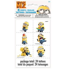 Despicable Me Tattoos 24pk