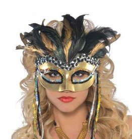 Warrior Goddess Feather Mask