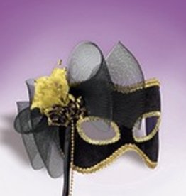 Black and Gold Flower Mask