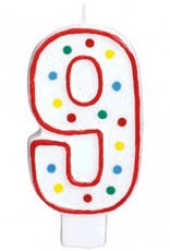 #9 Numeral Candle