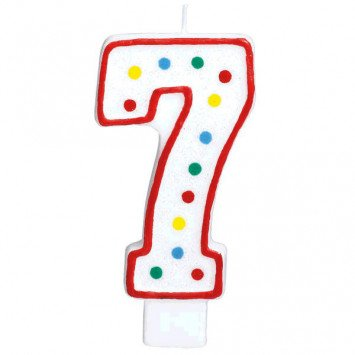 #7 Numeral Candle
