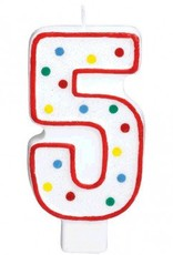 #5 Numeral Candle