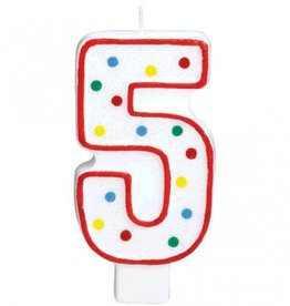 Amscan #5 Numeral Candle