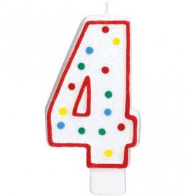 Amscan #4 Numeral Candle