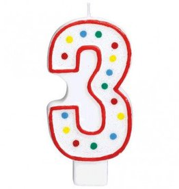 Amscan #3 Numeral Candle