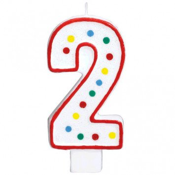 #2 Numeral Candle