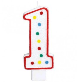 Amscan #1 Numeral Candle