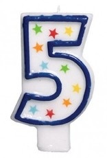 Amscan #5 Birthday Star Flat Molded Candle