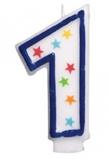 Amscan #1 Birthday Star Flat Molded Candle