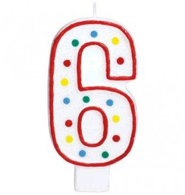 #6 Numeral Candle