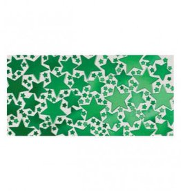 Green Metallic Star Confetti