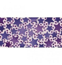 Purple Metallic Star Confetti
