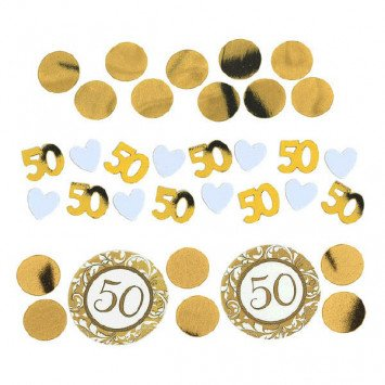 50th Anniversary Gold Confetti Mixes