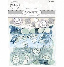 Silver 25th Anniversary Value Pack Confetti Mix