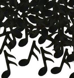 1oz Fanci Fetti Black Music Notes