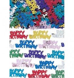 Metallic Happy Birthday Confetti