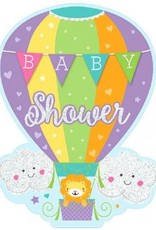 Baby Shower Hot Air Balloon, Jumbo Deluxe Invites - Neutral