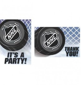 NHL Ice Time! Invitation & Thank You Card Set