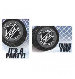 NHL Ice Time! Invitation & Thank You Card Set