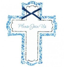 Invitations Stained Glass Blue