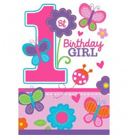 Sweet Birthday Girl Die-Cut Postcard Invitations