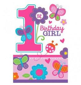 Sweet Birthday Girl Die-Cut Postcard Invitations