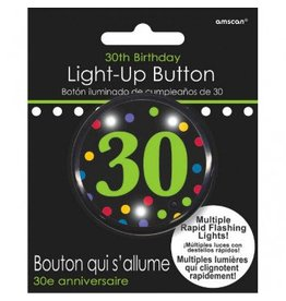 30th Birthday Flashing Button