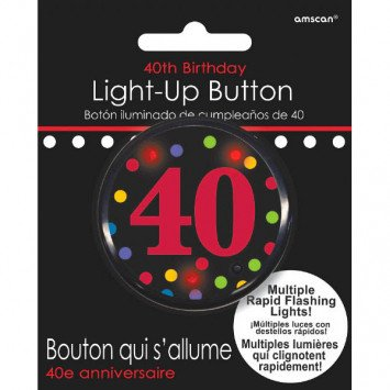 40th Birthday Flashing Button