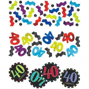 40th Celebration Confetti 1.2oz