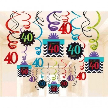 40th Swirl Deco 30pc
