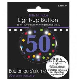 50th Birhtday Flashing Button