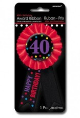 Award Ribbon Button 40th
