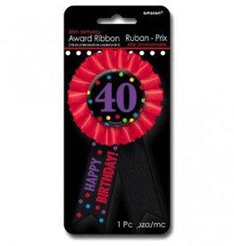 40th Award Ribbon Button