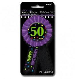 50th Award Ribbon Button