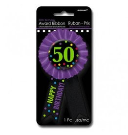 50th Award Ribbon Button