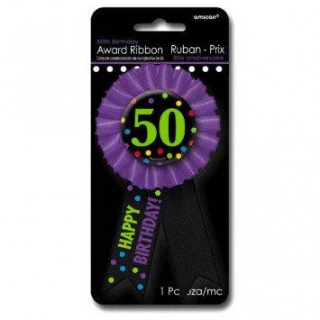 Award Ribbon Button 50th